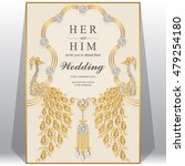 wedding card  invitation card ... | Shutterstock .eps vector #479254180