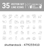 set vector icons graphic thin... | Shutterstock .eps vector #479255410