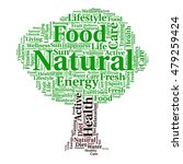 natural food and word cloud....   Shutterstock .eps vector #479259424