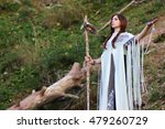 shaman with staff and glass... | Shutterstock . vector #479260729