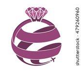 diamond ring world travel | Shutterstock .eps vector #479260960