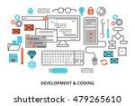 modern flat editable line... | Shutterstock .eps vector #479265610