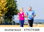 senior woman and man running... | Shutterstock . vector #479274388