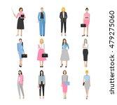 women in elegant office clothes. | Shutterstock .eps vector #479275060