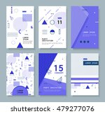 set abstract invitation with... | Shutterstock .eps vector #479277076