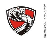 rattler in the red shield | Shutterstock .eps vector #479277499