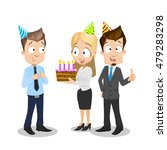business team corporate happy... | Shutterstock .eps vector #479283298