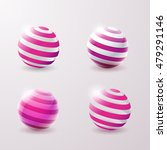 set of abstract 3d techno icons.... | Shutterstock .eps vector #479291146
