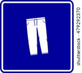 sweatpants sign | Shutterstock .eps vector #479292370