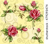 seamless floral background.... | Shutterstock .eps vector #479293474