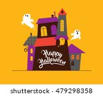 halloween greeting cards  ... | Shutterstock .eps vector #479298358