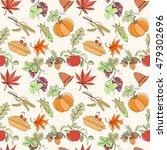thanksgiving seamless pattern... | Shutterstock .eps vector #479302696