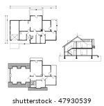 project of house in black and... | Shutterstock .eps vector #47930539
