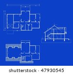 project of house in blue and... | Shutterstock .eps vector #47930545