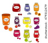 Colorful Set Of Silhouettes Of...