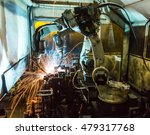 welding robots movement in a... | Shutterstock . vector #479317768