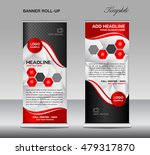 red roll up banner template... | Shutterstock .eps vector #479317870
