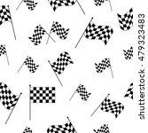 checkered flags seamless... | Shutterstock .eps vector #479323483