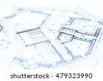 architecture blueprint    house ... | Shutterstock . vector #479323990