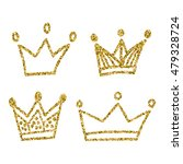 gold crown set isolated on... | Shutterstock .eps vector #479328724