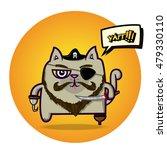 cat pirate vector illustration... | Shutterstock .eps vector #479330110
