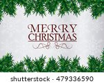 merry christmas leaves design | Shutterstock .eps vector #479336590