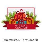 merry christmas gift design | Shutterstock .eps vector #479336620