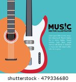 musical instrument and sound... | Shutterstock .eps vector #479336680