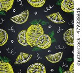 lemons seamless pattern on... | Shutterstock .eps vector #479338618