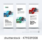 vector set of modern roll up... | Shutterstock .eps vector #479339308