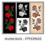 set of three illustrations.... | Shutterstock .eps vector #479339620