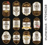 retro vintage labels silver and ... | Shutterstock .eps vector #479340268