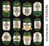 retro vintage labels silver and ...   Shutterstock .eps vector #479340286