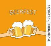 beer festival logo. two hands...   Shutterstock . vector #479340793