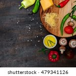 colorful fresh vegetables and... | Shutterstock . vector #479341126