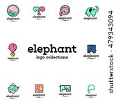 simple modern elephant logo | Shutterstock .eps vector #479343094
