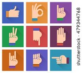 different hands  gestures ... | Shutterstock .eps vector #479344768
