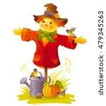 Autumn Scarecrow Vector...