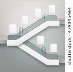 vector modern escalator with... | Shutterstock .eps vector #479345464