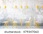 yellow coffee tables and chairs ... | Shutterstock . vector #479347063