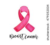 breast cancer card. awareness... | Shutterstock .eps vector #479352034