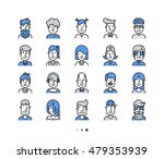 set of icons people avatars for ... | Shutterstock .eps vector #479353939