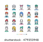 set of icons people avatars for ...