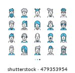 set of icons people avatars for ... | Shutterstock .eps vector #479353954