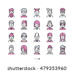set of icons people avatars for ... | Shutterstock .eps vector #479353960