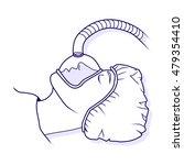 general anesthesia. vector... | Shutterstock .eps vector #479354410