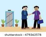 two men in business suits... | Shutterstock .eps vector #479363578