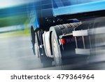 Semi Truck Spedition. Speeding...