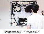 graffiti stencil street art.... | Shutterstock . vector #479365114