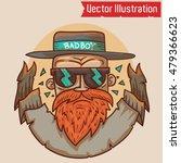bad boy   vector illustration.... | Shutterstock .eps vector #479366623